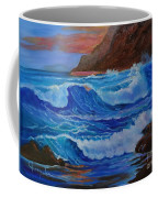 Blue Waves Hawaii Coffee Mug