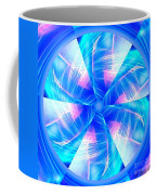Blue Wheel Inflamed Abstract Coffee Mug