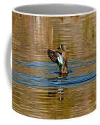 Blue-winged Teal Flapping Coffee Mug