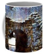 Blue Winter Stone Bridge Coffee Mug