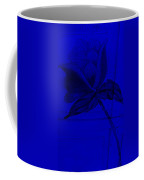 Blue Wood Flower Coffee Mug