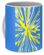 Blue Yellow White Swirl Coffee Mug
