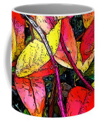 Blueberry Autumn Leaves Coffee Mug