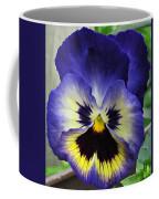 Blueberry Pansy Coffee Mug