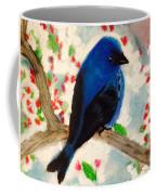 Bluebird Amid Apple Blossoms Coffee Mug