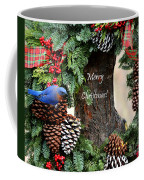 Bluebird Christmas Wreath Coffee Mug