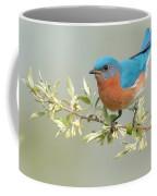 Bluebird Floral Coffee Mug by William Jobes