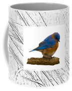 Bluebird In Prairie Frame Coffee Mug