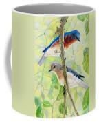 Bluebird Pair Coffee Mug