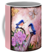 Bluebirds And Butterflies Coffee Mug