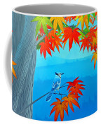 Bluejay In The Fall Coffee Mug