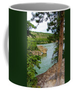 Bluff Over The River In Five Finger Rapids Recreation Site Along Klondike Hwy-yt  Coffee Mug