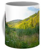 Bluff Overlooking Our Campsite By Stewart River Along Klondike Highway-yt Coffee Mug