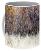 Blurred Brown Winter Woodland Background Coffee Mug