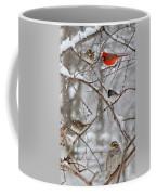 Blushing Red Cardinal In The Snow Coffee Mug