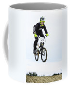Bmx Racer Goes Airborne Coffee Mug