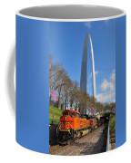 Bnsf Ore Train And St. Louis Gateway Arch Coffee Mug