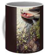 Boat At Dock  Coffee Mug by Elena Elisseeva