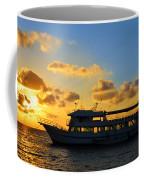 Boat At Sunrise Coffee Mug