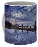 Boat At Sunset Coffee Mug