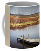 Boat Dock On A Pond In South West Michigan Coffee Mug