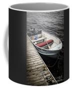 Boat In Fog Coffee Mug by Elena Elisseeva