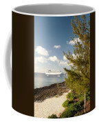 Boat In Port Coffee Mug