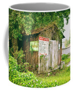 Boat Launch Outhouse - Texture Bw Coffee Mug