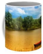Boat On A Golden Pond Coffee Mug