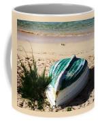 Boat On Devonshire Bay Beach Coffee Mug