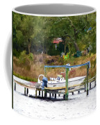 Boat On Dock Coffee Mug