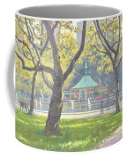 Boat Pond, Central Park Oil On Canvas Coffee Mug