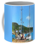 Boat - Relaxing At The Dock Coffee Mug