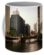 Boat Ride On The Chicago River Coffee Mug