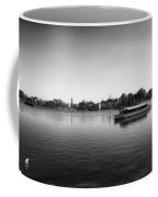 Boat Ride World Showcase Lagoon In Black And White Walt Disney World Coffee Mug