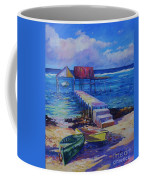 Boat Shed And Boats Coffee Mug by John Clark
