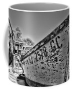 Boat - State Of Decay In Black And White Coffee Mug