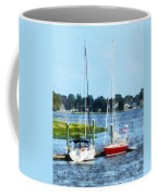 Boat - Two Docked Sailboats Norwalk Ct Coffee Mug