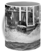 Boat Wake Black And White Coffee Mug