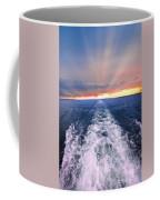 Boat Wake On Georgian Bay  Coffee Mug
