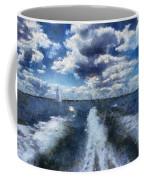 Boat Wake Photo Art 02 Coffee Mug