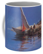 Boat Yard, Kilifi, 2012 Acrylic On Canvas Coffee Mug