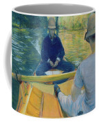 Boaters On The Yerres Coffee Mug