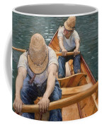 Boaters Rowing On The Yerres Coffee Mug
