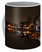 Boathouse Row All Lit Up Coffee Mug by Bill Cannon