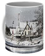 Boathouse Snow Coffee Mug