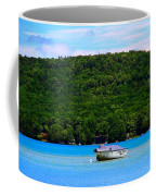 Boating At Sleeping Bear Dunes Lake Michigan Coffee Mug