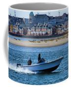 Boating In New York Harbor Coffee Mug by Dan Sproul