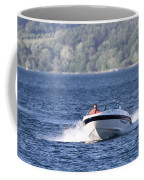 Boating On Grand Traverse Bay Coffee Mug