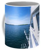Boating On Lake Coffee Mug